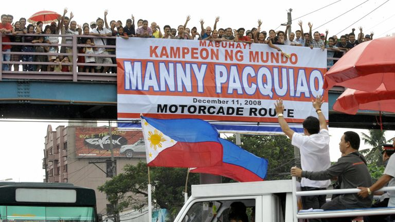 The Philippines comes to a standstill when Pacquiao fights