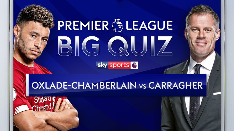 Jamie Carragher takes on Alex Oxlade-Chamberlain in the Premier League Big Quiz on The Football Show