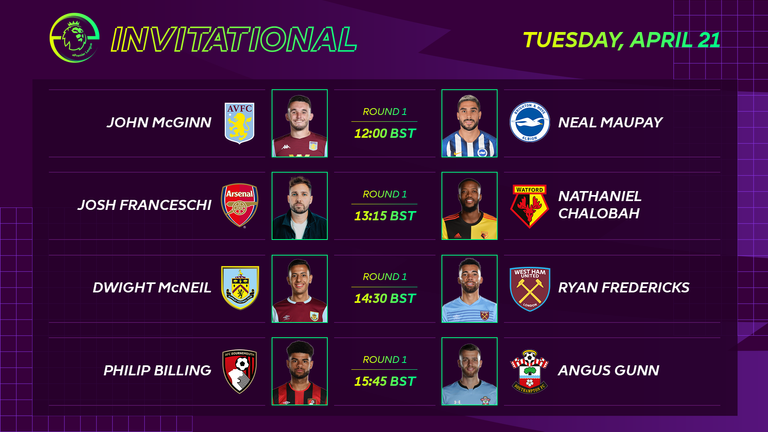ePL Invitational draw