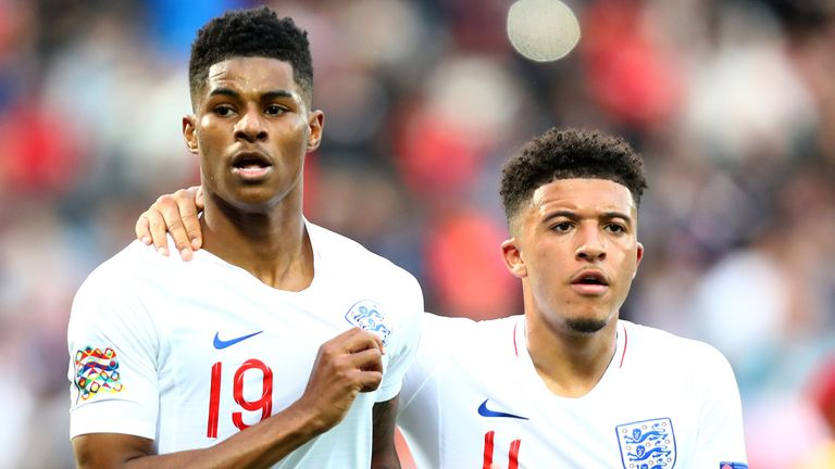 Marcus Rashford has revealed he would relish playing alongside Jadon Sancho at Old Trafford