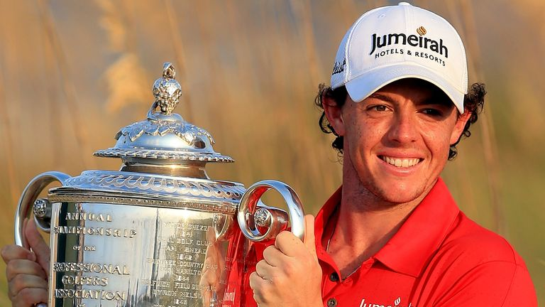 McIlroy won the PGA Championship in 2012 and 2014