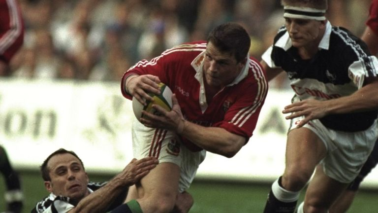 Quinnell's compatriot Scott Gibbs starred on the Lions' 1997 tour