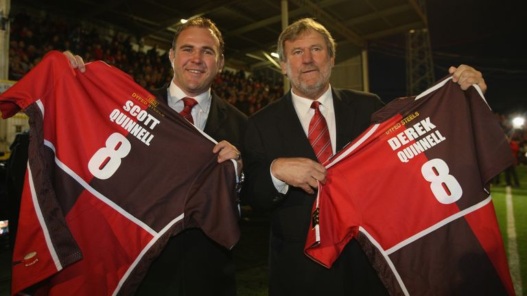 Scott Quinnell and father Derek both starred for Llanelli