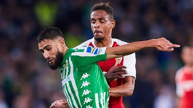 Real Betis' Nabil Fekir could be in action against Sevilla in La Liga's first game back since the coronavirus lockdown
