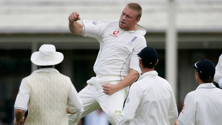Flintoff helped England win two Ashes series, in 2005 and 2009