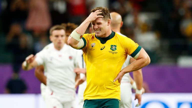 Australia lost 40-16 to England in last year's World Cup quarter-finals