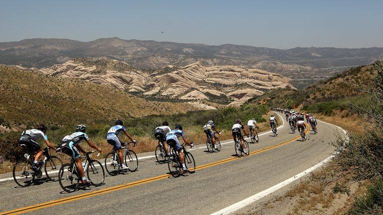 The harsh terrain is used for cycling too