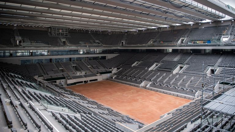 The newly built roof of Court Philippe Chatrier will be in show during this year's French Open