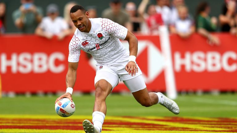 Dan Norton in action for England Sevens