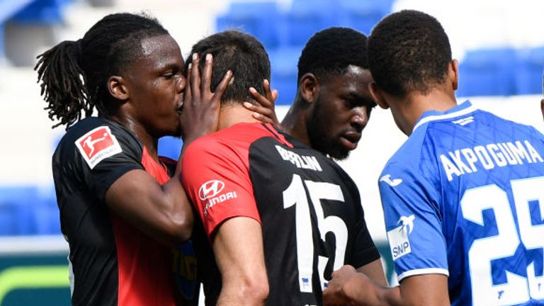 Dedryck Boyata and Marko Grujic breached social distancing guidelines in Hertha Berlin's win over Hoffenheim
