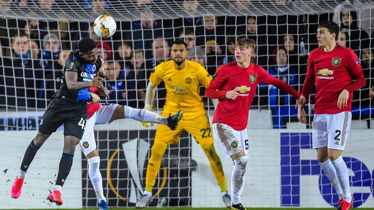 Dennis netted for Club Brugge against Manchester United in their Europa League round of 32 meeting