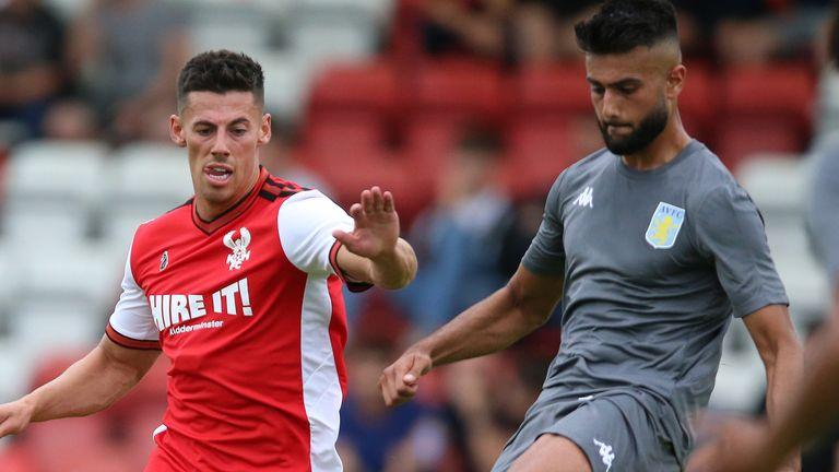 Easah Suliman (right) left Aston Villa in the January transfer window to join Portuguese side Vitoria de Guimaraes