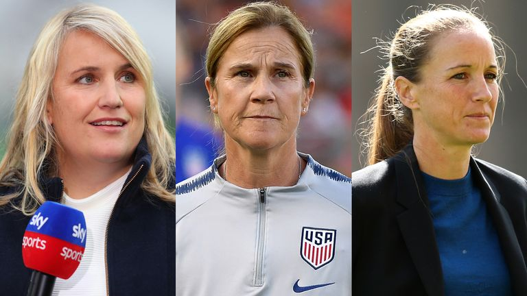 Emma Hayes, Jill Ellis and Casey Stoney are among the names being linked with the England Women job