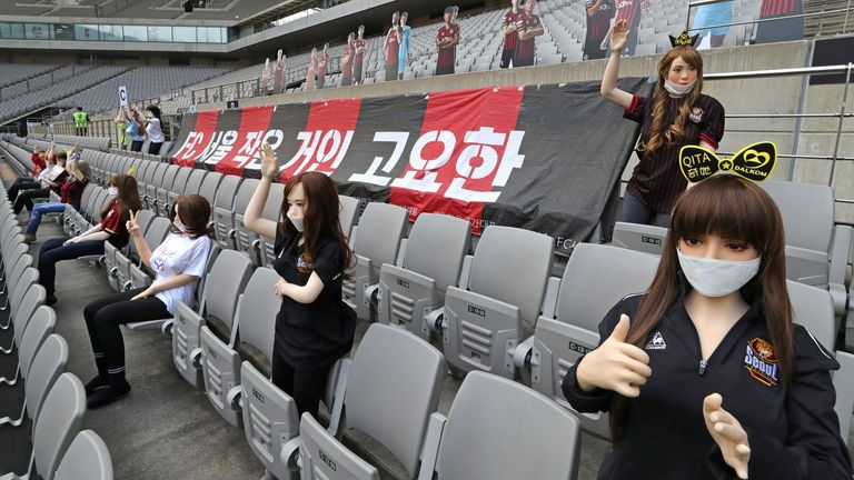 Seoul filled stands with sex dolls prior to K-League contest