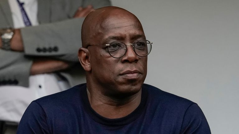 Ian Wright shared the abuse he received with his 1.7m Twitter followers