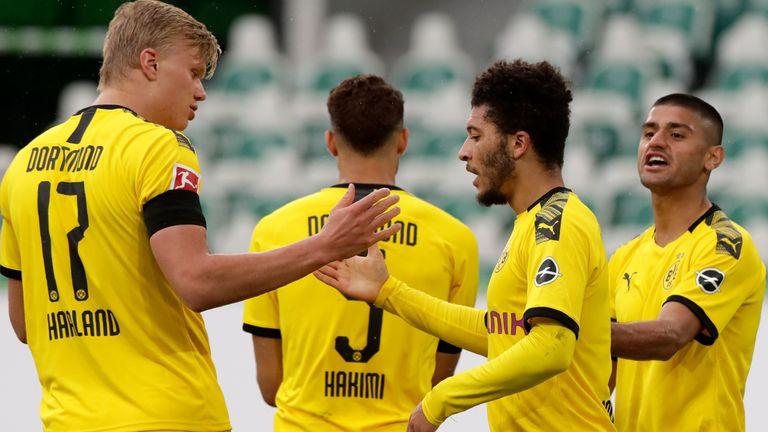 Borussia Dortmund were 2-0 winners against Wolfsburg