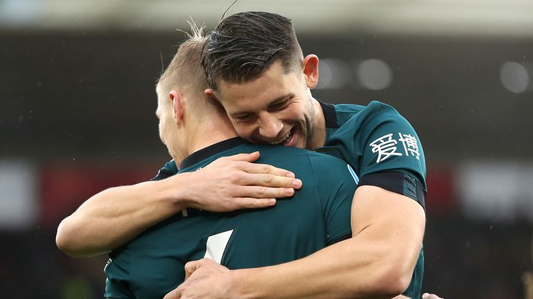 Tarkowski has formed a formidable partnership with Ben Mee at the back