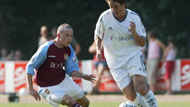 Nix in action for Aston Villa following his move from Manchester United