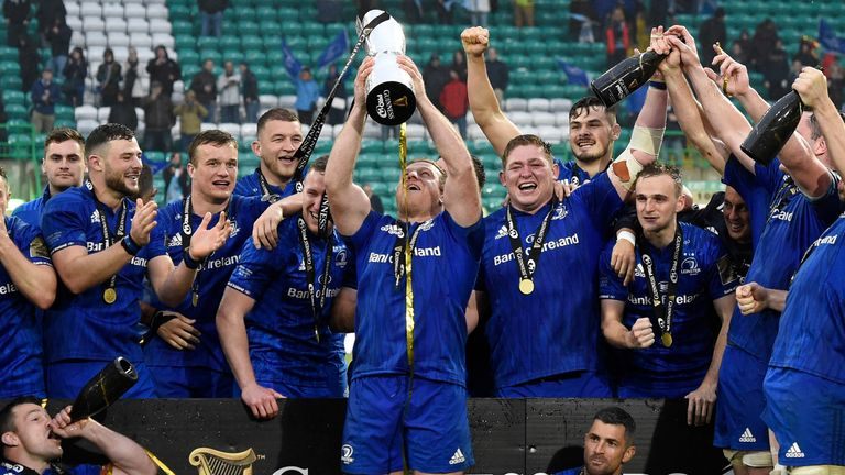 Leinster beat Glasgow in the PRO 14 final last year