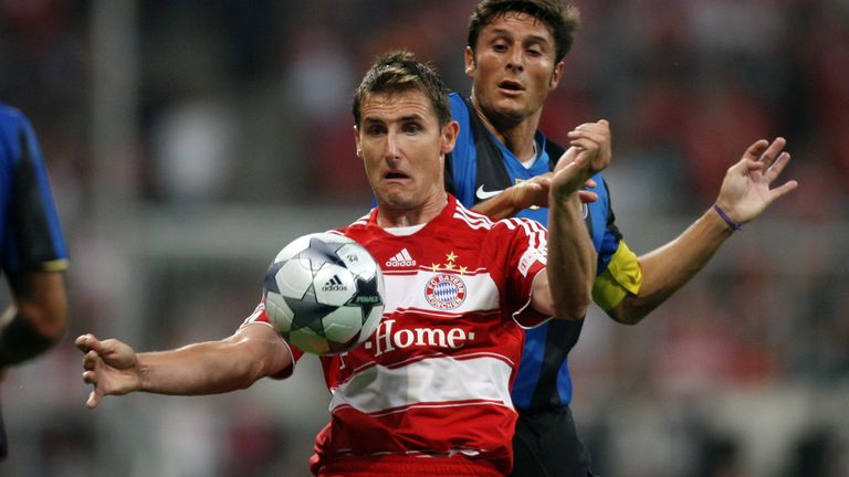 Miroslav Klose was unable to inspire a comeback for Bayern Munich against Inter Milan in 2010