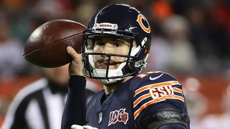 Mitchell Trubisky finds his starting role under threat in Chicago