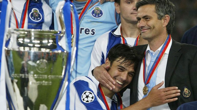 Mourinho guided Porto to Champions League glory in 2004 with a 3-0 win over Monaco