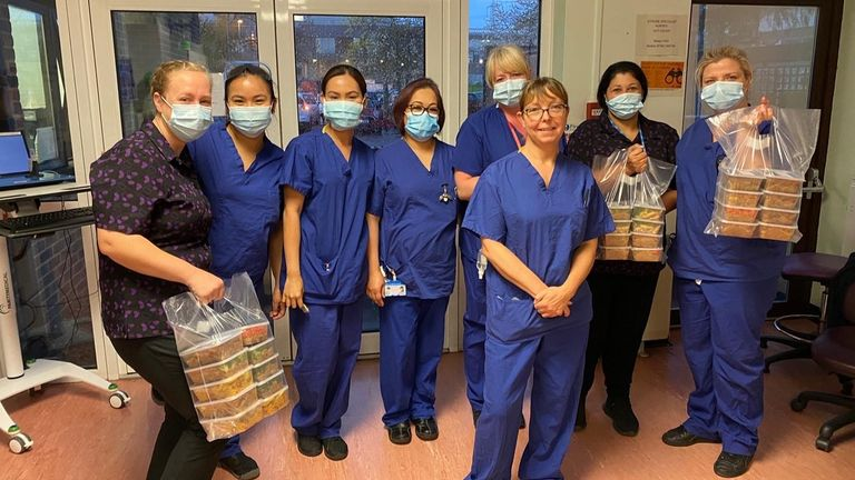 Dhillon's company RNS have been supplying free meals to NHS wards