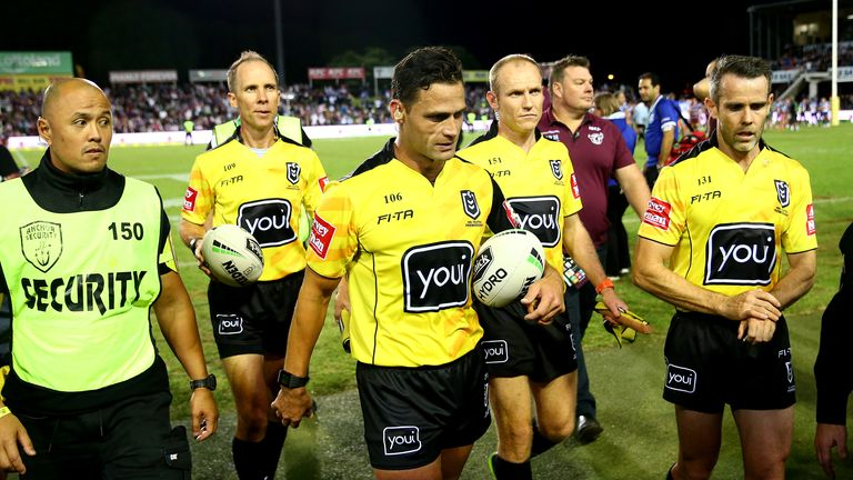 NRL is considering going back to one on-field referee