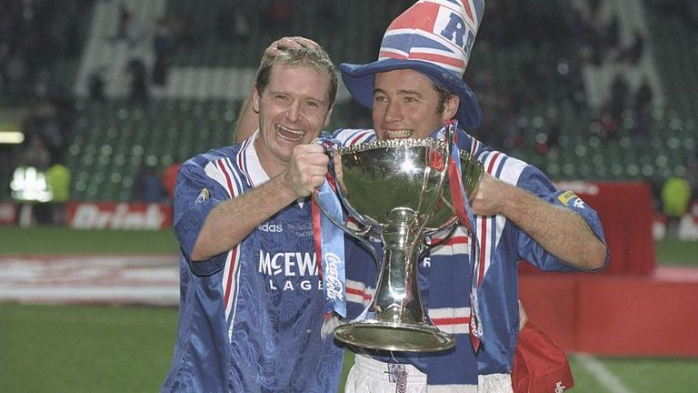 In 1996, Gascoigne was in the midst of the trophy-laden spell with Rangers