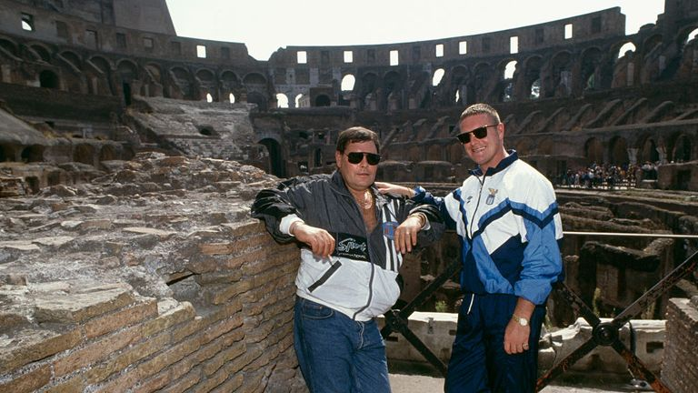 Gazza swapped London for Rome when he left Spurs to sign for Lazio in 1992