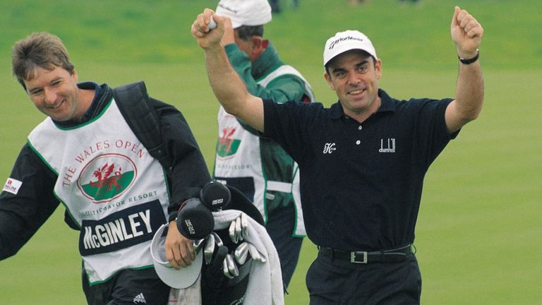 Paul McGinley won the Wales Open at Celtic Manor in 2001