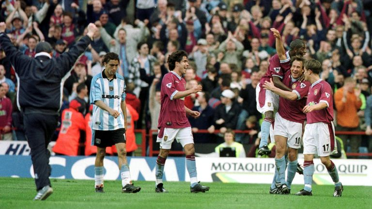 Paul Merson celebrates his late winner against Coventry in 2001