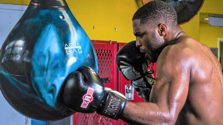 "Akpejiori returns on ""Boxing at the Amp 1"" bill in Miami on Saturday"