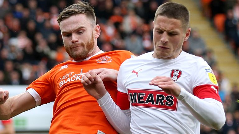 Rotherham (in white) may not get the chance to resume this season if their chairman is correct