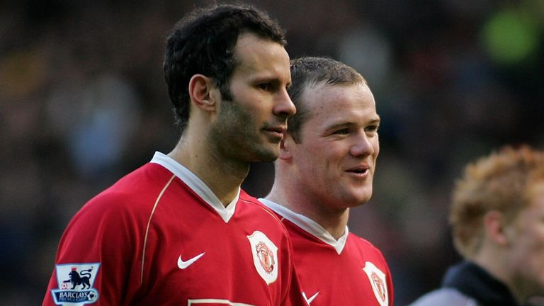 Rooney followed in the footsteps of Ryan Giggs as a Premier League wonderkid