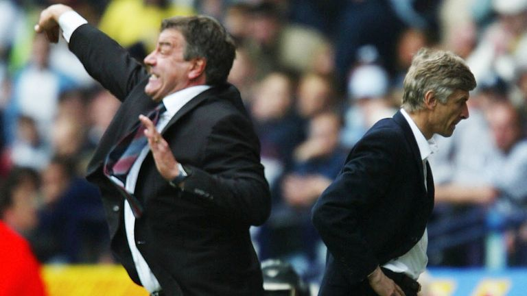 Sam Allardyce saw his Bolton team enjoy a fine comeback against Arsene Wenger's Arsenal in April 2003