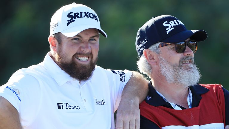 Lowry had Martin as his caddie when he won The Open at Royal Portrush