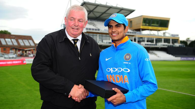 The youngster was named Player of the Tournament when India U19s played away at England U19s in 2017