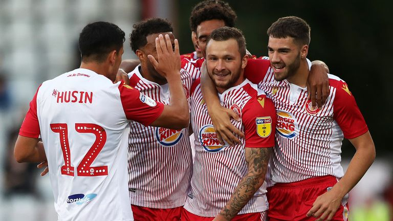 Stevenage currently sit bottom of League Two but will remain in the division if the vote is approved by the EFL and FA