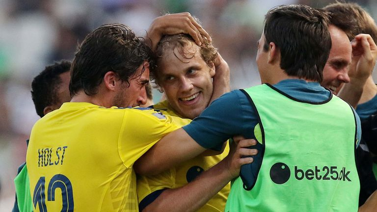 Pukki's breakthrough came during his time in Denmark with Brondby