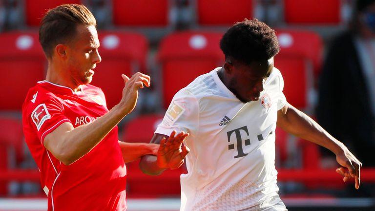 Bayern Munich's Alphonso Davies impressed on the left against Union Berlin