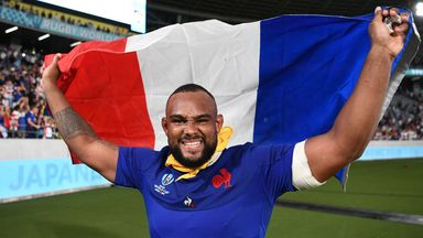 Jefferson Poirot celebrates after France's win over Argentina at the 2019 World Cup