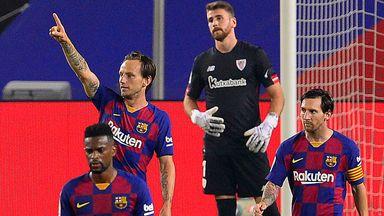 Ivan Rakitic came off the bench to score the winner as Barcelona reclaimed top spot in La Liga