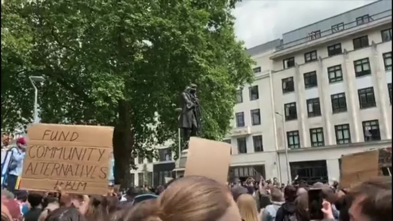A statue of slave trader Edward Colston was torn down during an anti-racism protest in Bristol