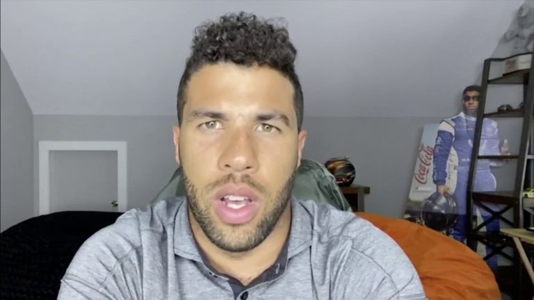 NASCAR's only current black driver, Bubba Wallace, says the confederate flag is a 'symbol of hate' and has backed the decision to ban it from all events