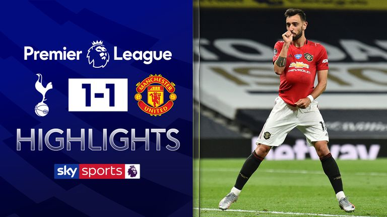 FREE TO WATCH: Highlights from Tottenham's draw with Manchester United