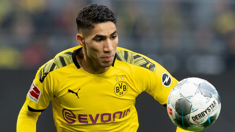 Achraf Hakimi has been on loan at Borussia Dortmund this season