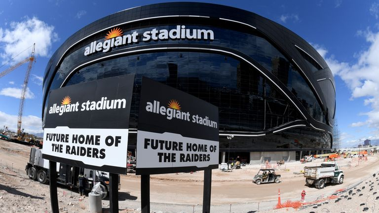 There will be no fans in the stands for the Raiders' opening game in Vegas