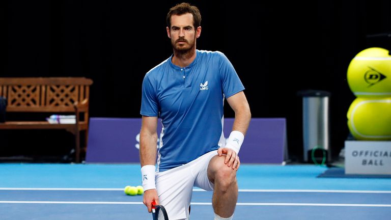 Andy Murray took a knee, in solidarity with the Black Lives Matter movement