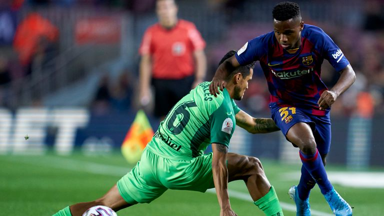Fati's dribbling skills and quick feet has been a highlight of Barca's season